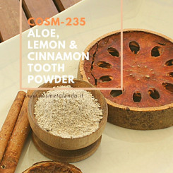 Dentifrici Aloe, Lemon & Cinnamon Tooth Powder – COSM-235 COSM-235